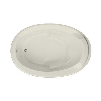 Hartford 5 ft. Reversible Drain Air Bath Tub in Biscuit