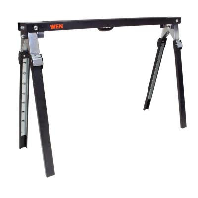 1000 lbs. Capacity Adjustable Folding Sawhorse