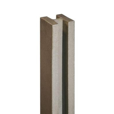 5 in. x 5 in. x 8-1/2 ft. EcoStone Brown Composite Fence Line Post