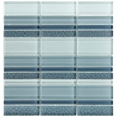 Tessera Meridian Cirrus 11-3/4 in. x 12-1/4 in. x 8 mm Glass Mosaic Wall Tile