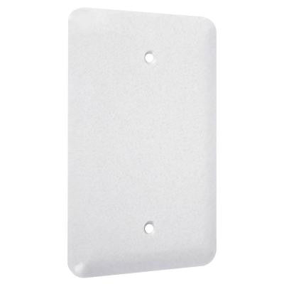 1-Gang Blank Maxi Metal Wall Plate - White Textured