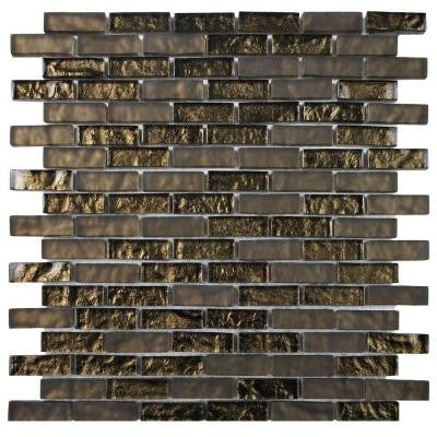 Tessera Subway Empire 11-3/4 in. x 11-3/4 in. x 8 mm Glass Mosaic Wall Tile
