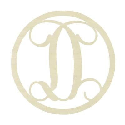 19 in. Unfinished Single Circle Monogram (D)