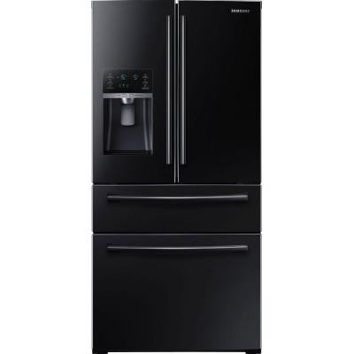 28.15 cu. ft. 4-Door French Door Refrigerator in Black