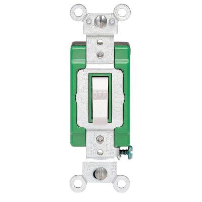 30 Amp Industrial Double Pole Switch - White
