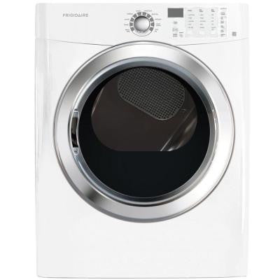 7.0 cu. ft. Electric Dryer with Steam in Classic White