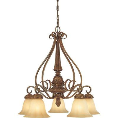 Capri 5-Light Chestnut Spice Chandelier