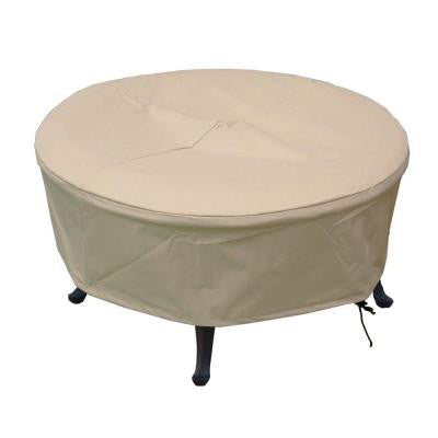 380G Polyester Large Round Patio Fire Pit Cover with PVC Coating