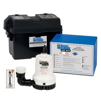 Big Dog Computer-Controlled AC/DC Battery Backup Sump Pump System