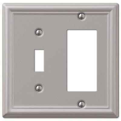 Chelsea 1 Toggle and 1 Decora Wall Plate - Nickel