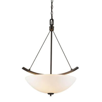 Moira Collection 3-Light Rubbed Bronze Pendant