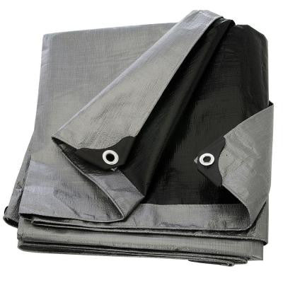 9 ft. x 12 ft. Silver Black Heavy Duty Tarp