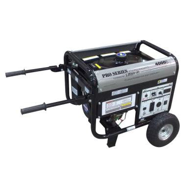 Platinum Series 4,000-Watt Gasoline Powered Electric Start Clean Power Portable Generator with CARB