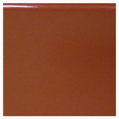 Terra Cotta 4-1/4 in. x 4-1/4 in. Ceramic Surface Bullnose Wall Tile