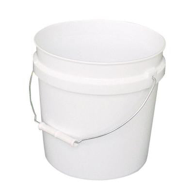 2-Gal. White Plastic Bucket (Pack of 3)