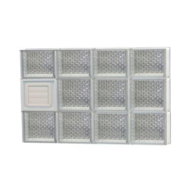 31 in. x 21.25 in. x 3.125 in. Diamond Pattern Glass Block Window with Dryer Vent