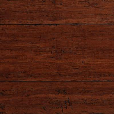Handscraped Strand Woven Dark Carmel 1/2 in. x 5-1/8 in. Wide x 72-7/8 in. Length Solid Bamboo Flooring (25.93sqft/case)