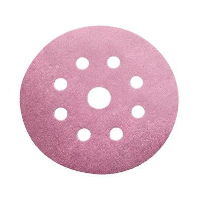 5 in. 280-Grit 9-Hole Sanding Disc with Hook 'n Loop Backing (100-Pack)
