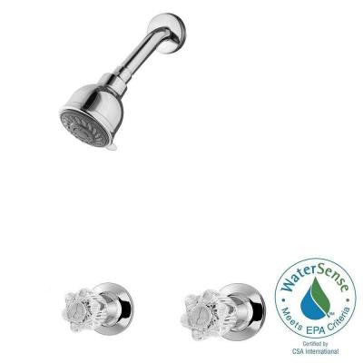 Bedford 2-Handle Shower Faucet in Polished Chrome