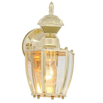 150° Polished Brass Outdoor Motion-Sensing Decorative Lamp