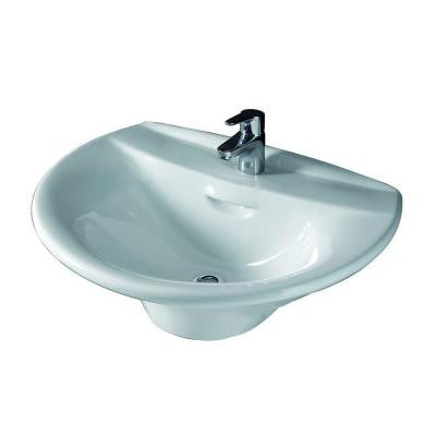 Venice 650 Wall-Hung Bathroom Sink in White