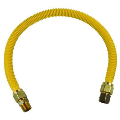 ProCoat 3/4 in. FIP x 3/4 in. MIP x 30 in. Stainless Steel Gas Connector 3/4 in. I.D. (270,500 BTU)