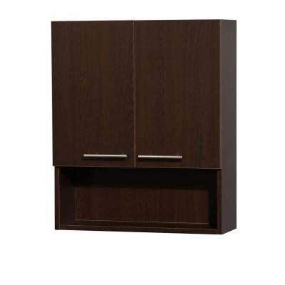 Amare 24 in. W x 8-3/4 in. D x 29 in. H Wall Cabinet in Espresso