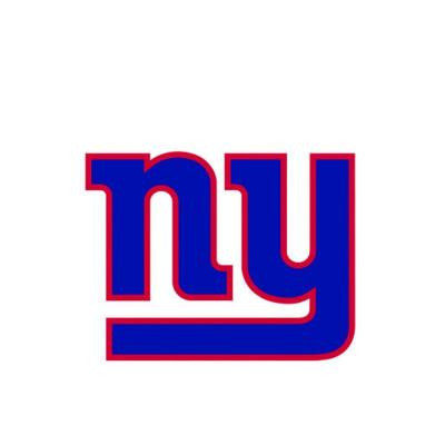 12 in. x 9 in. New York Giants Teammate Logo Wall Applique