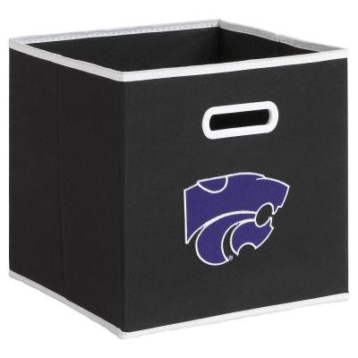 College STOREITS Kansas State University 10-1/2 in. W x 10-1/2 in. H x 11 in. D Black Fabric Storage Drawer