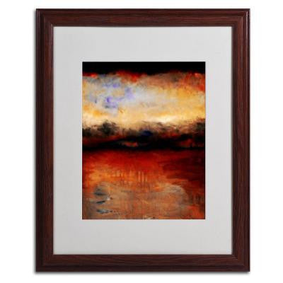 16 in. x 20 in. Red Skies at Night Matted Framed Wall Art