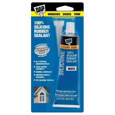 2.8 oz. White 100% Silicone Window and Door Rubber Sealant (12-Pack)