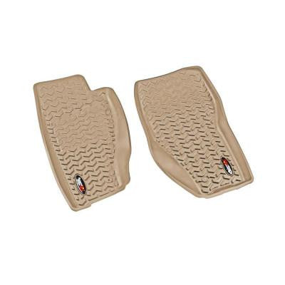 Floor Liner Front Pair Tan 2008-2013 Jeep Liberty KK