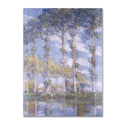 18 in. x 32 in. The Poplars Canvas Art