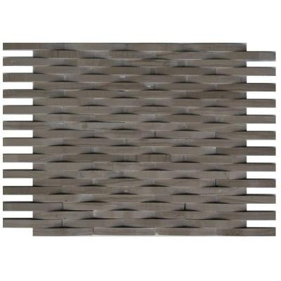 3D Reflex Athens Grey 9 in. x 11.5 in. x 8 mm Stone Mosaic Wall Tile