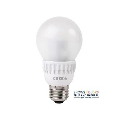 TW Series 60W Equivalent Soft White (2700K) A19 Dimmable LED Light Bulb