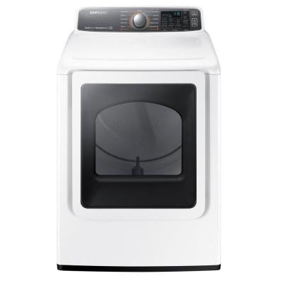 7.4 cu. ft. Gas Dryer with Steam in White, ENERGY STAR