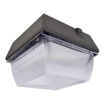 40-Watt Outdoor Black LED Canopy Light with Natural White (5000K)