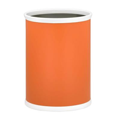 13 in. Spicy Orange Oval Mylar Trash Can