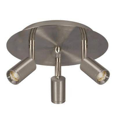 Hudson 3-Light Brushed Nickel Track Lighting Kit