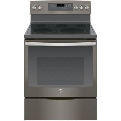 Adora 5.3 cu. ft. Electric Range Oven with Self-Cleaning Convection Oven in Slate