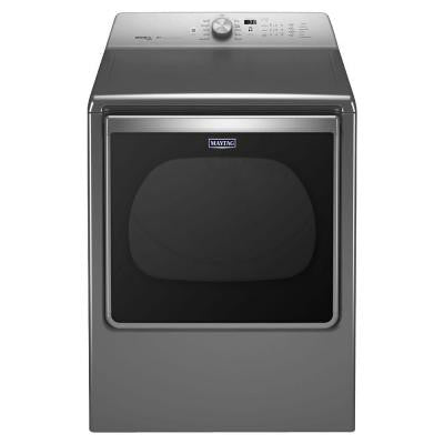 8.8 cu. ft. Electric Dryer with Steam in Chrome Shadow