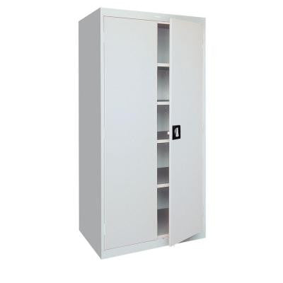 36 in. W x 72 in. H x 18 in. D Freestanding Steel Cabinet in Dove Gray