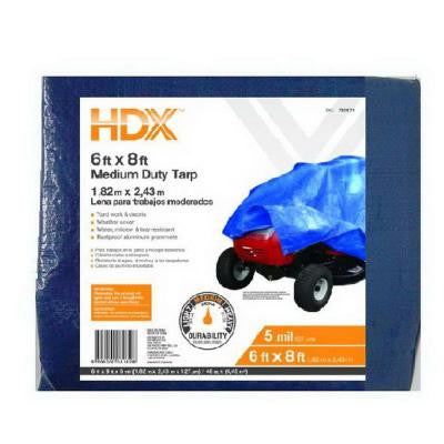 6 ft. x 8 ft. Blue General Purpose Tarp