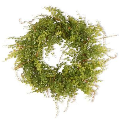 22 in. Garden Accents Boxwood Berry Wreath