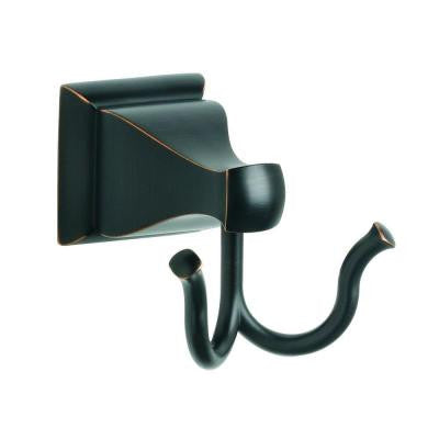 Milner Double Robe Hook in Bronze