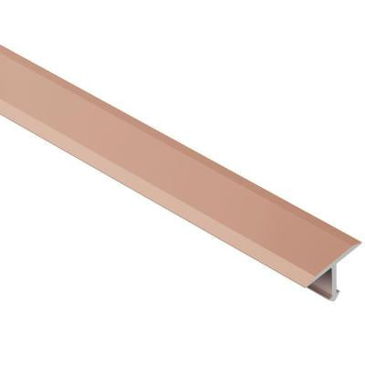 Reno-T Satin Copper/Bronze Anodized Aluminum 17/32 in. x 8 ft. 2-1/2 in. Metal T-Shaped Tile Edging Trim