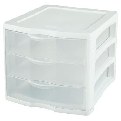 Clearview 3-Compartment Plastic Drawer Unit
