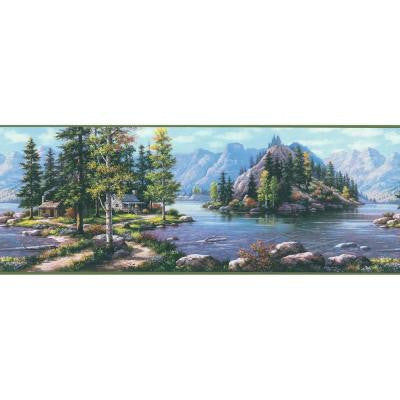 9 in. Scenic Mountain Border