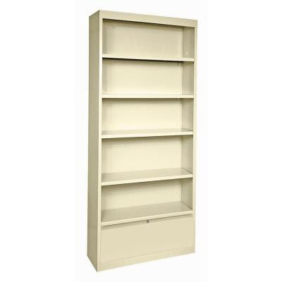 5-Shelf Steel Bookcase with Drawer