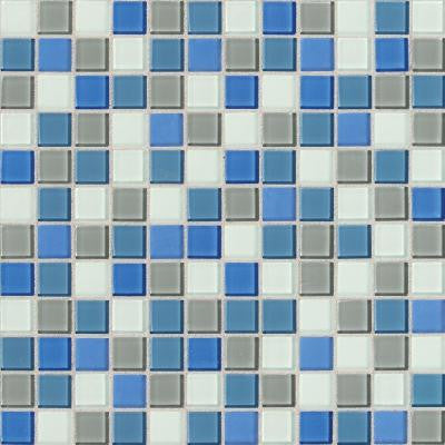 Isis Polo Blend 12 in. x 12 in. x 3 mm Glass Mesh-Mounted Mosaic Wall Tile